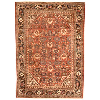 Handmade Herat Oriental Antique 1920's Persian Mahal Wool Rug - 7 x 9'10 (Iran)