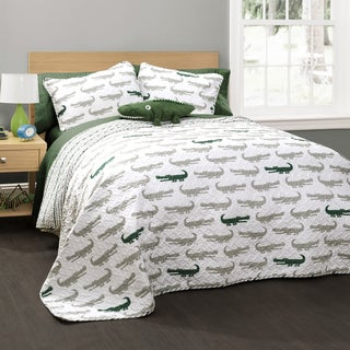 Lush Decor Alligator 4-piece Quilt Set
