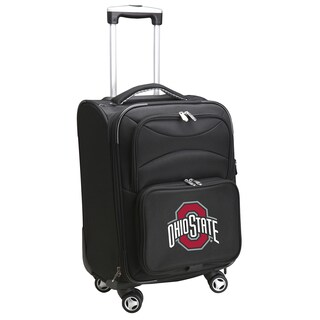 Denco Ohio State Black Nylon/Fabric 20-inch Carry-on 8-wheel Spinner Suitcase