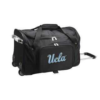 Denco Sports UCLA Black Nylon 22-inch Carry-on Rolling Duffel Bag