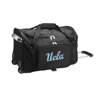 4f3275d0c6 Denco Sports UCLA Black Nylon 22-inch Carry-on Rolling Duffel Bag