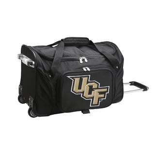 Denco Sports Central Florida Black Nylon and Polyester 22-inch Carry-on Rolling Duffel Bag