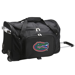 Denco Sports Florida Black Nylon/Polyester 22-inch Carry-on Rolling Duffel Bag