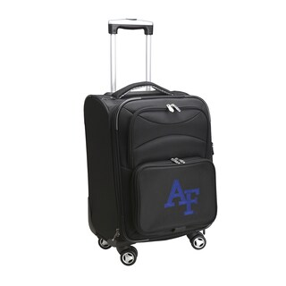 Denco US Air Force Academy Black Nylon 20-inch Carry-on 8-wheel Spinner Suitcase