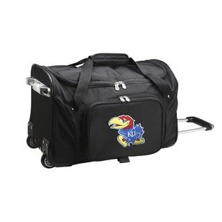 Denco Kansas 22-inch Carry On Rolling Duffel Bag