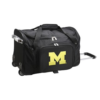 Denco Michigan 22-inch Carry On Rolling Duffel Bag