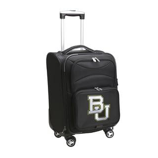 Denco Sports Baylor Black Ballistic Nylon 20-inch Carry-on 8-wheel Spinner Suitcase