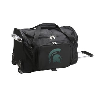 Denco Sports Michigan State 22-inch Carry-on Rolling Duffel Bag