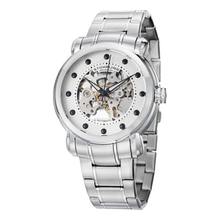 Stuhrling Original Men's Automatic Legacy Skeletonized Stainless Steel Strap Watch