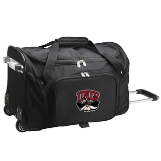 Denco Sports 'UNLV' Black Nylon and Polyester 22-inch Carry-on Rolling Duffel Bag