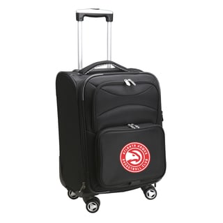 Denco Atlanta Hawks Black Ballistic Nylon 20-inch Carry-on 8-wheel Spinner Suitcase