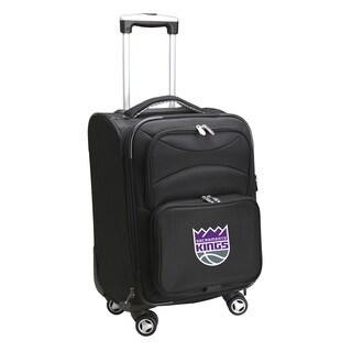 Denco Sports Sacramento Kings Black Ballistic Nylon 20-inch Carry-on 8-wheel Spinner Suitcase