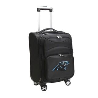 Denco Carolina Panthers Black Nylon/Fabric 20-inch Carry-on 8-wheel Spinner Suitcase