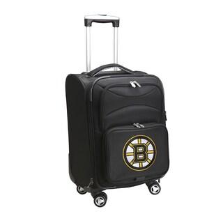 Denco Boston Bruins Black Nylon 20-inch Carry On 8-wheel Spinner Suitcase