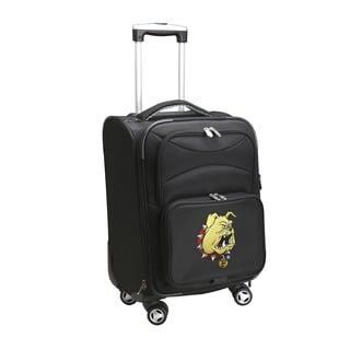 Denco Ferris State Black Ballistic Nylon 20-inch Carry-on 8-wheel Spinner Suitcase