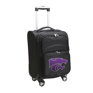 Denco Sports Kansas State Wildcats 20-inch Carry-on 8-wheel Spinner Suitcase