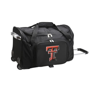 Denco Sports Texas Tech 22-inch Carry On Rolling Duffel Bag