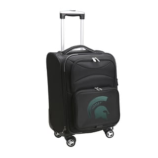 Denco Michigan State 20-inch Carry-on 8-wheel Spinner Suitcase