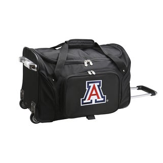 Denco Sports Arizona Black Nylon/Polyester 22-inch Carry-on Rolling Duffel Bag