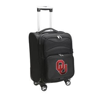 Denco Sports 'Oklahoma' Black Nylon and Fabric 20-inch Carry-on 8-wheel Spinner Suitcase