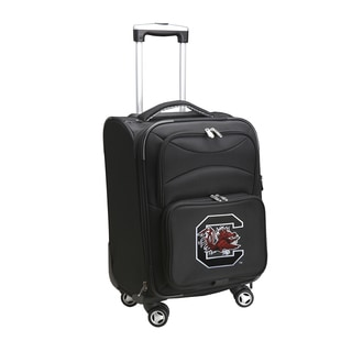 Denco Sports 'South Carolina' Black Nylon and Fabric 20-inch Carry-on 8-wheel Spinner Suitcase