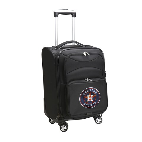 Denco Sports Houston Astros Black Ballistic Nylon 20-inch Carry-on 8-wheel Spinner Suitcase