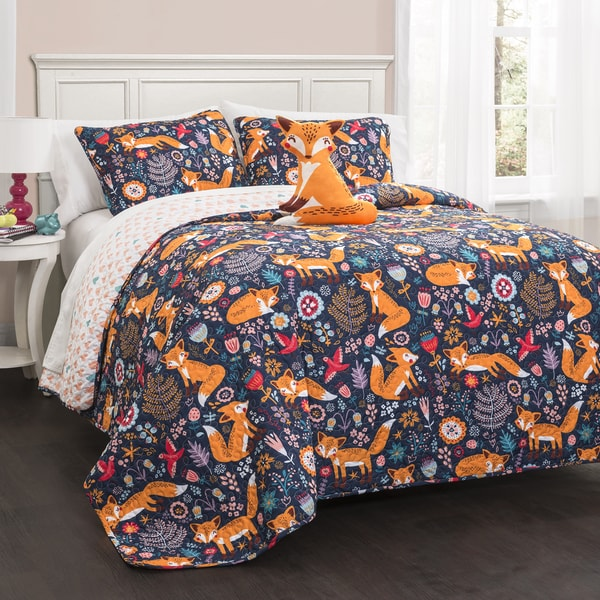 Lush Decor Pixie Fox 4-piece Quilt Set