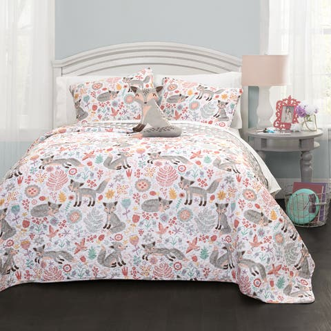 Lush Decor Pixie Fox 4-piece Quilt Set