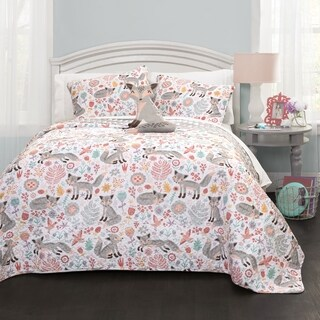 Lush Decor Pixie Fox 4-piece Quilt Set (4 options available)