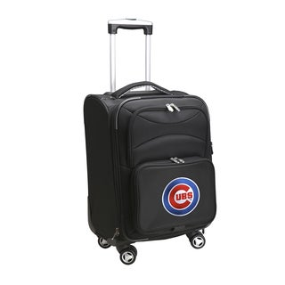 Denco Sports Chicago Cubs Black Nylon 20-inch Carry-on 8-wheel Spinner Suitcase
