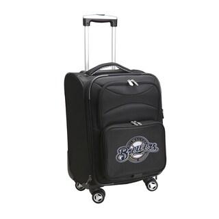 Denco Milwaukee Brewers Black Ballistic Nylon 20-inch Carry-on 8-wheel Spinner Suitcase