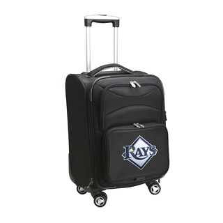 Denco Tampa Bay Rays Black Nylon 20-inch Carry-on 8-wheel Spinner Suitcase