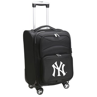Denco Sports New York Yankees 20-inch Carry-on 8-wheel Spinner Suitcase