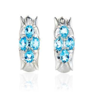 Sterling Silver Swiss Blue Topaz Earrings|https://ak1.ostkcdn.com/images/products/13285545/P19995429.jpg?impolicy=medium