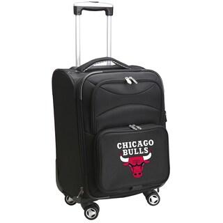 Denco Sports Chicago Bulls Black Nylon 20-inch Carry-on 8-wheel Spinner Suitcase