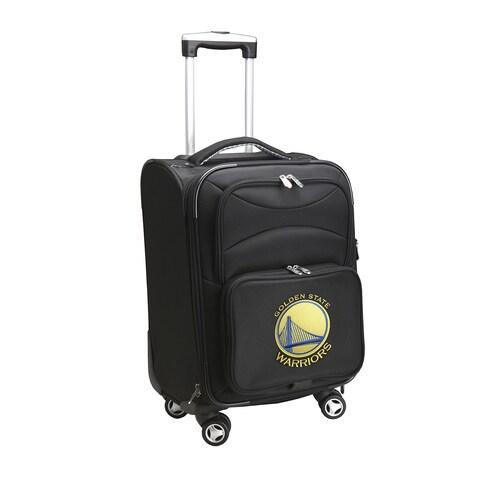 Denco Golden State Warriors Black Nylon 20-inch Carry-on 8-wheel Spinner Suitcase