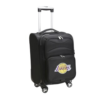 Denco Sports Los Angeles Lakers Black Nylon/Fabric 20-inch Carry-on 8-wheel Spinner Suitcase