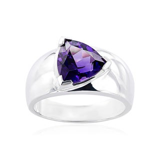 Sterling Silver Trillion Gemstone Ring