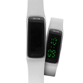 Dakota Fusion Kids White Slim Hidden LED Watch