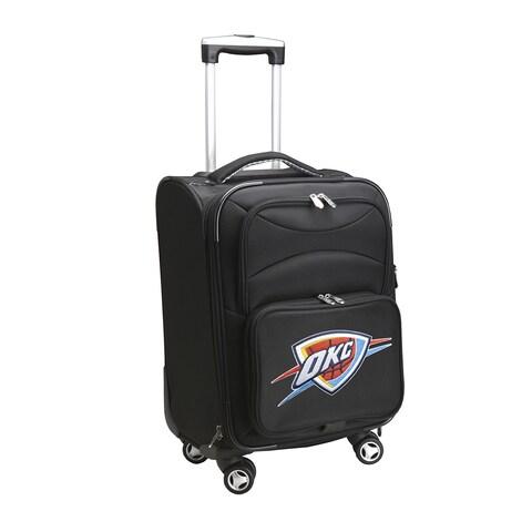 Denco Oklahoma City Thunder Black Nylon 20-inch Carry On 8-wheel Spinner Suitcase