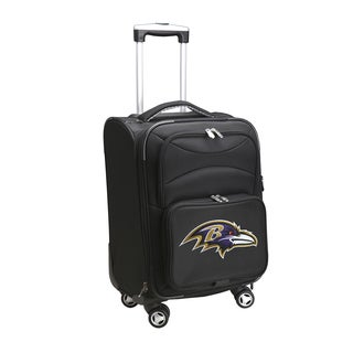 Denco Sports 'Baltimore Ravens' Black 20-inch Carry-on Spinner Suitcase