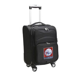 Denco Philadelphia 76ers Black Nylon 20-inch Carry-on 8-wheel Spinner Suitcase