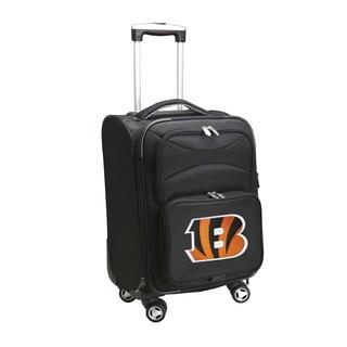 Denco Sports Cincinnati Bengals Black Nylon 20-inch Carry-on 8-wheel Spinner Suitcase