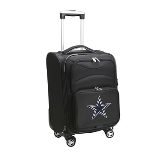 Denco Dallas Cowboys Black Nylon 20-inch Carry-on 8-wheel Spinner Suitcase