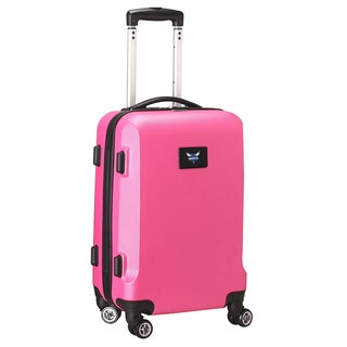 Denco Sports Charlotte Hornets Black/Pink ABS and Plastic 20-inch Carry-on Hardside 8-wheel Spinner Suitcase