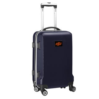 Denco Sports Oklahoma State Black/Navy ABS 20-inch Carry-on Hardside 8-wheel Spinner Suitcase