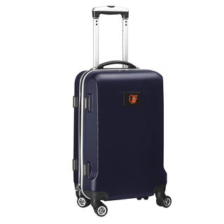 Denco Baltimore Orioles Black and Navy ABS 20-inch Carry-on Hardside 8-wheel Spinner Suitcase