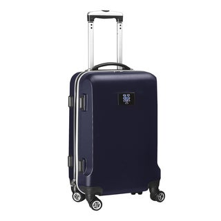 Denco Sports New York Mets Black ABS and Plastic 20-inch Carry-on Hardside 8-wheel Spinner Suitcase