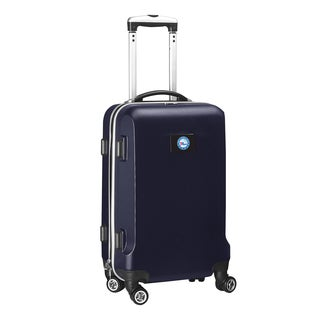 Denco Philadelphia 76ers Black and Navy ABS 20-inch Carry-on Hardside 8-wheel Spinner Suitcase