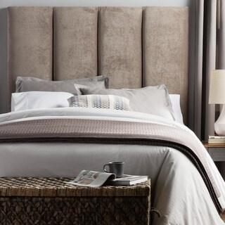 Humble + Haute Victoria Tall Light Grey Velvet Upholstered Headboard